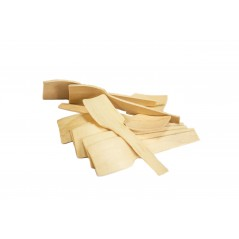"2 3/4"" Square Wood Taster Spoons Case of 100bags/100ct =10,000ct (Item# Green Spoon 70)"