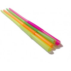 500 ct Bendable Stretchable Unwrapped Neon Straws