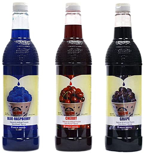 Snow Cone Syrup Quarts. Pack of Three