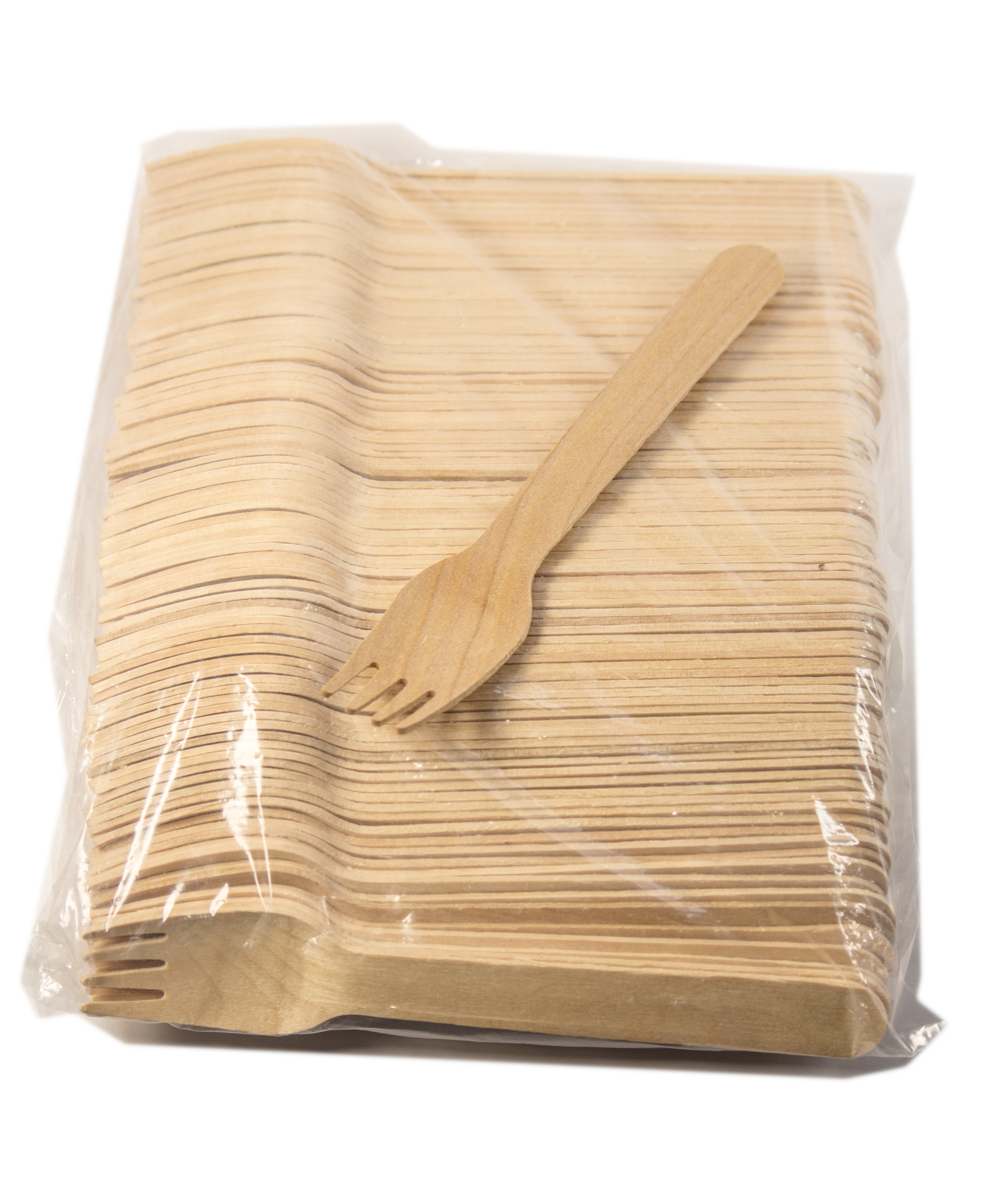 """5 1/2"""" Wood Cutlery Forks Box of 3,000ct (Item# Green Fork 140)"""