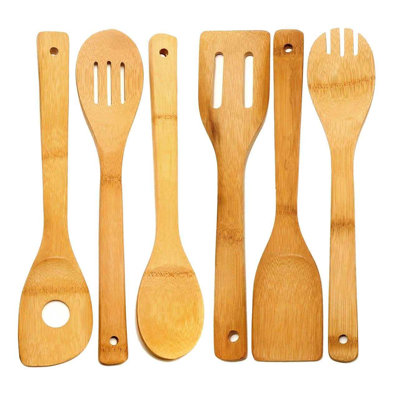 Bamboo Kitchen Utensils, Tools ( Pack of 6)