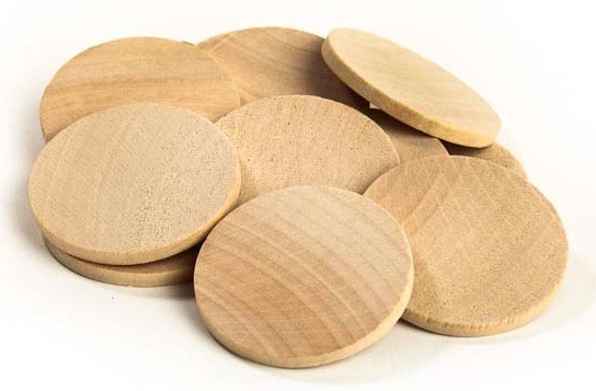 Printed Wooden Nickle Circles