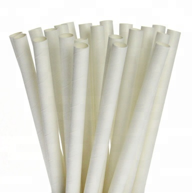 Paper Straw 7.75 Inch Unwrapped Jumbo - 1000ct