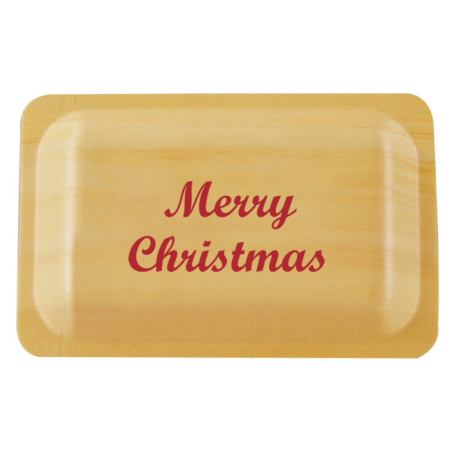 Perfectware 7 Printed Plates with Christmas Print