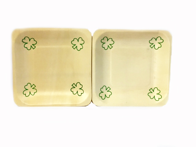 Saint Pats Day Wooden Plates- 10 count