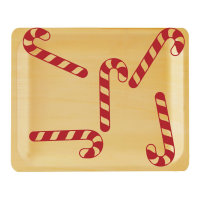 Perfect Stix Perfectware 10 Candy Cane  Print  in Red. Pack of 25 plates
