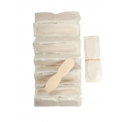 "3"" Plain 12 Pack Taster Spoons Paper Wrapped Individually Case of 12 pk/900ct = 10,800ct (Item# ASO24W12P)"