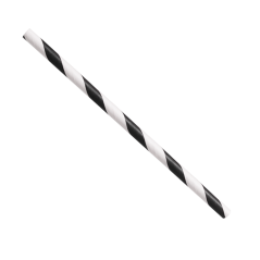 Paper Straw 5.75 Black and White Stripe.- Cocktail Coffee Paper Straw. Pack of 500 Paper Straws
