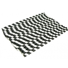 Paper Straw 10.25 Inch Giant Black and White Stripe- Pack of 300 ct Straws White Unwrapped