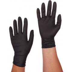 Perfect Stix HIGH Performance Nitrile Gloves Large Powder Free - Black- Pack of 250 Ct- Large