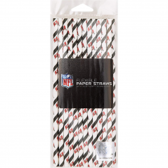 NFL Disposable Paper Straws- Tampa Bay Bucs-24ct