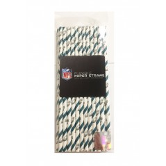 NFl Disposable Paper Straws- Philadelphia Eagles 24 pack