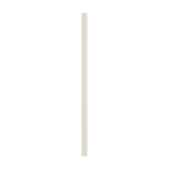 "5.25"" White Paper Cocktail Straws"