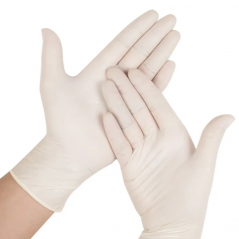 Latex Gloves Powder Free Pack of 100 Gloves