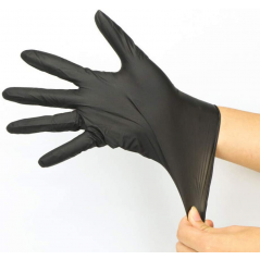 Perfect Stix HIGH Performance Nitrile Gloves Large Powder Free - Black- Pack of 250 Ct- Extra Large