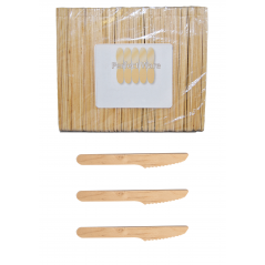 "6"" Wooden Cutlery Premium Perfect Ware  Knife. Case of 3,000ct ( Perfect Ware 165 KP)"