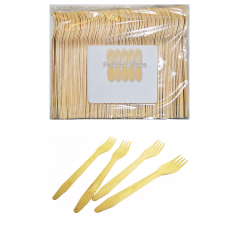 "6"" Wood Premium Perfect Ware Cutlery Forks. Box of 3,000  Perfect Ware ( Item # Green Fork 165 FP)"