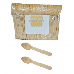 "6"" Wood Premium Perfect Ware  Cutlery Spoons. Case of 1,000ct (Item# Perfect Ware 165SP)"