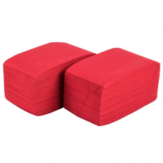 Paper Dinner Napkin Red- 2 Ply- 100 Pack