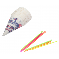 Snow Cone Straw and Cup Set
