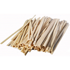 "5 1/2"" Coffee Stirrers with Square Ends Box of 1,000ct ( Item# FS200)"