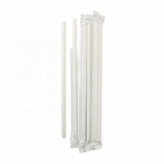7.75 Wrapped Paper Straw White-Pack of 500 Straws