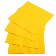 Paper Beverage Napkin- 2ply- Yellow- 600 count